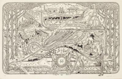 Duke Riley, 'Map of the Kingsbury Run in Her Years of Splendor and Glory', 2010