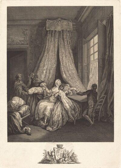 François Voyez after Pierre-Antoine Baudouin, 'Le fruit de l'amour secret'
