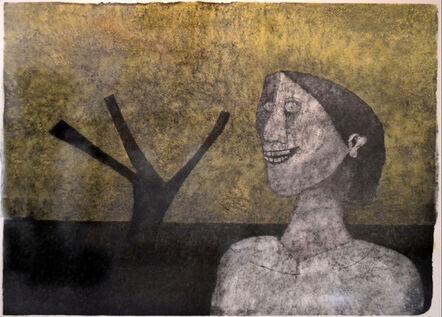Rufino Tamayo, 'Smiling woman', 1989