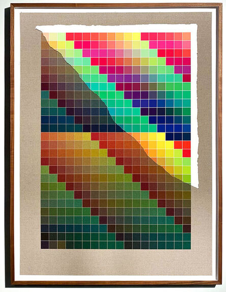 Analía Saban, 'Transcending Pigment from Paint to Canvas, from Canvas to Paint (Color) #1 No. VIII', 2020