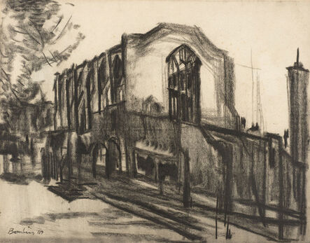 David Bomberg, 'Benchers Hall, Inner Temple', 1947