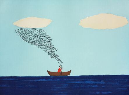 Chris Johanson, 'I Am Glad That I Went To Center', 2002