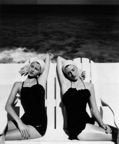 Louise Dahl-Wolfe, 'Twins at the Beach, Harper's Bazaar', 1949