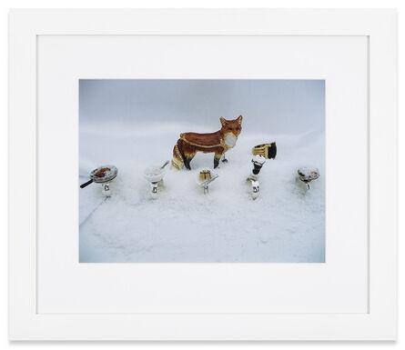 Karen Kilimnik, 'Fox with winter cache of food in the winter cave fox den', 2013
