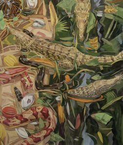 Owen Gray, 'Three Crocodiles and A Red Snake  ', 2014