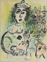 Marc Chagall, 'Le Clown Fleuri', 1963