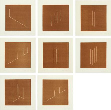 Fred Sandback, 'Mappe mit 10 Umkehrlithographien (Portfolio with 10 Reverse Lithographs): eight plates (J. 62-7, 69-70)', 1977