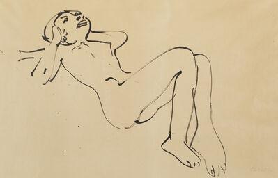 Oskar Kokoschka, 'Reclining Girl'
