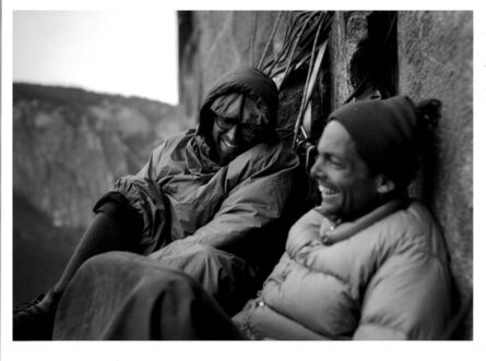 Glen Denny, 'ROYAL ROBBINS AND TOM FROST BIVOUACKING ON NORTH AMERICA WALL', ca. 1960