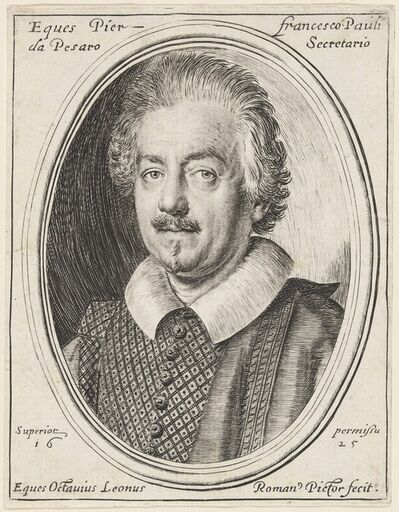 Ottavio Leoni, 'Pier Francesco Pauli', 1625