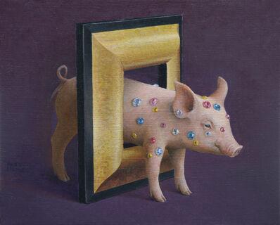 Akifumi Okumura, 'Pig in Frame', Add Artwork year