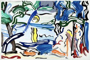 Roy Lichtenstein, 'Moonscape', 1985