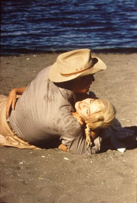 Eve Arnold, 'Marilyn Monroe and Clark Gable during the filming of The Misfits, Nevada', 1960