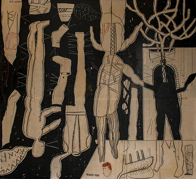 Mahmoud Obaidi, 'Make Love not War Black', 2020