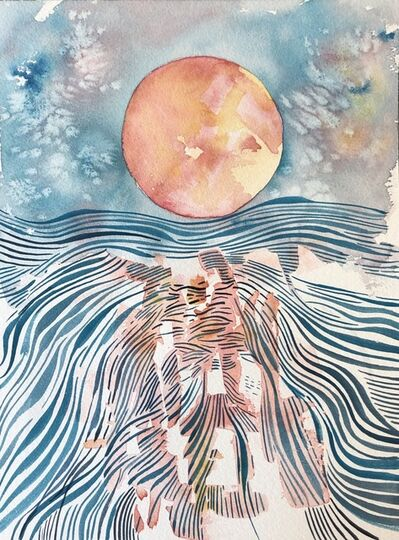 Brian Frink, 'Moon and Water', 2020
