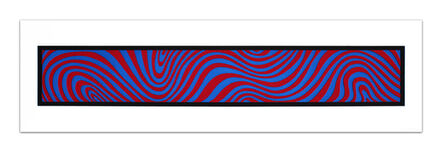 Sol LeWitt, 'Blue and Red, from: Wavy Irregular Bands', 1996
