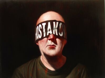Ken Currie, 'Study (Self Portrait with Blindfold)', 2019