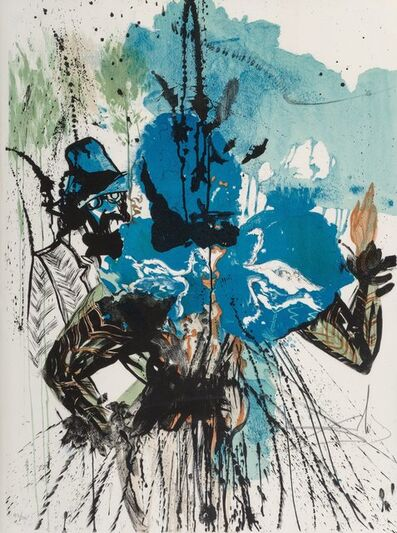 Salvador Dalí, 'L'homme et la fleur', 1972