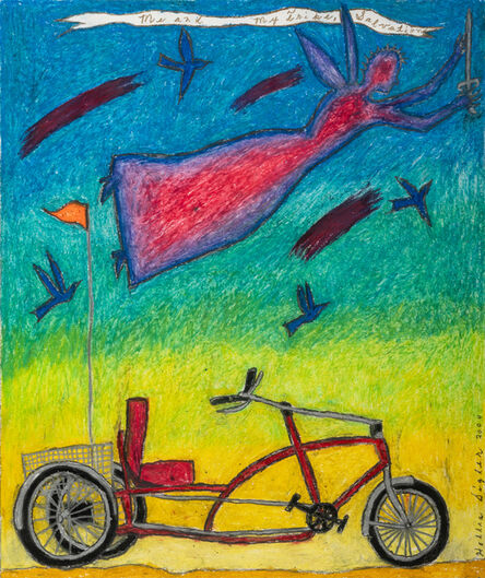 Hollis Sigler, 'Me and my Trike, Salvation (Angel and Bicycle)', 2000