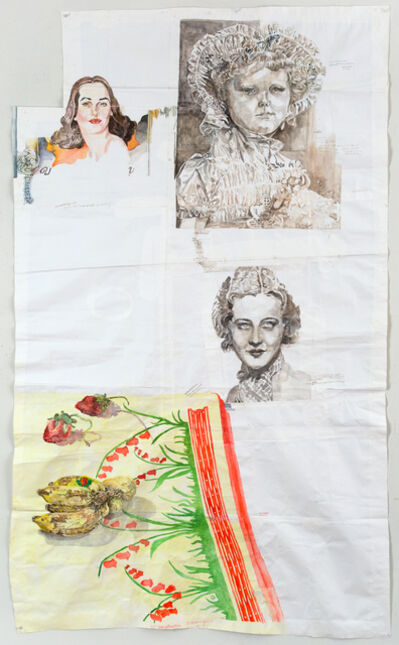 Dawn Clements, 'Faces and Table', 2014