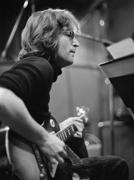 Bob Gruen, 'John Lennon with guitar at The Record Plant, NYC. ', 1972