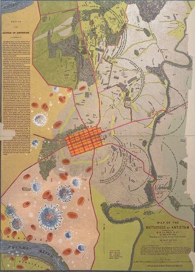 Joyce Kozloff, 'Uncivil Wars: Battle of Antietam', 2021