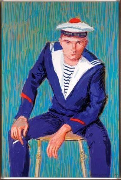 David Hockney, 'Matelot Kevin Druez 1', 2009