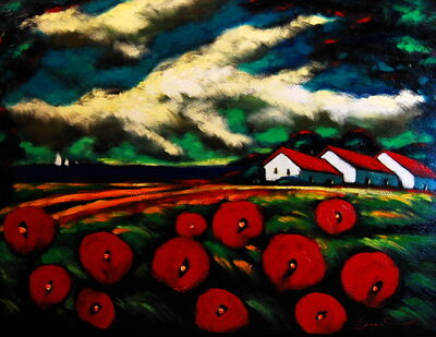 Sergey Cherep, 'Poppies by the Bay'