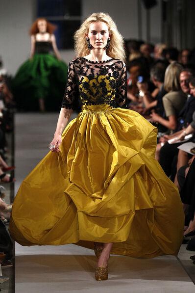 Oscar de la Renta, 'Evening ensemble; dress and overblouse', 2012