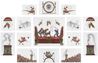 Raqib Shaw, 'Suite Of The Ruby Red Boudoir Of Beasts', 2012