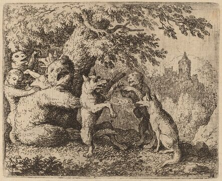 Allart van Everdingen, 'The Bear and the Wolf are Persecuted', probably c. 1645/1656
