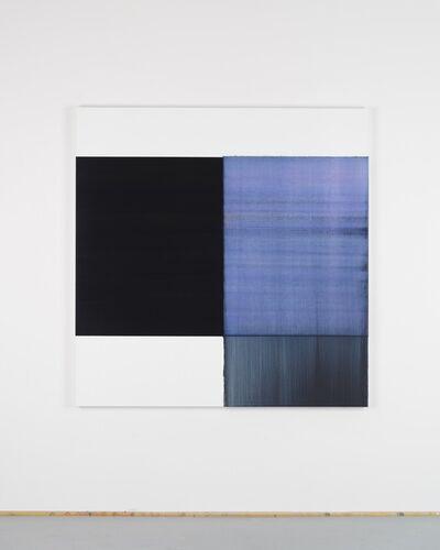Callum Innes, 'Exposed Painting Delft Blue / Violet', 2018