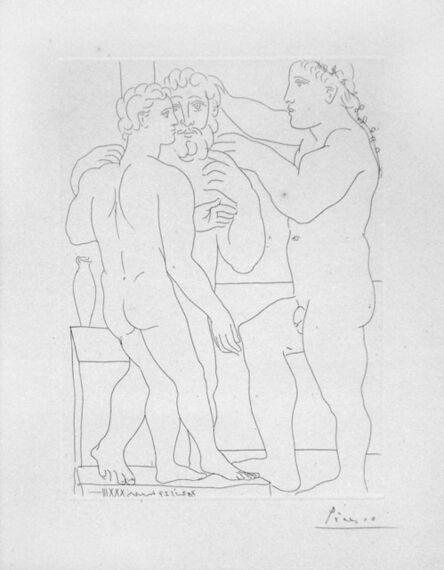 Pablo Picasso, 'Deux Hommes Sculptes - Three Nude Men Standing', 1933