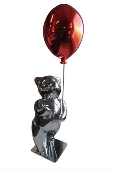 Cévé, 'Sunny red : Teddy avec ballon (Résine - Glossy)', 2019