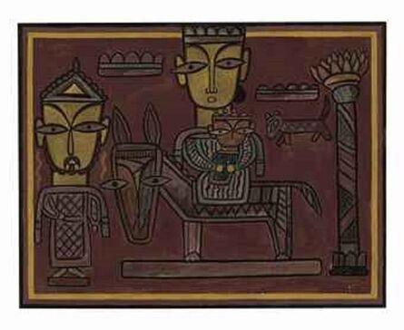 Jamini Roy, 'Untitled (The Holy Family)'