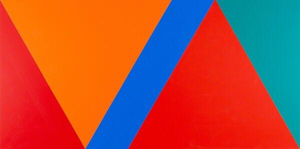 Claude Tousignant, 'Variation 59 : série de cinq tableaux à structure identique, symétrique et réversible, trouvée par hasard #1', 2019