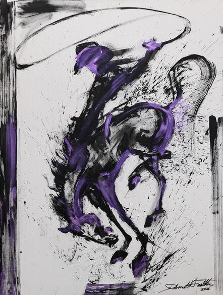 Richard Hambleton, 'Untitled Purple Rodeo Rider', 2016