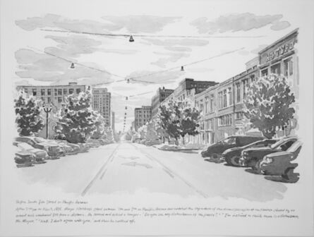 Zhi Lin, 'Before South 8th Street on Pacific Avenue', 2017