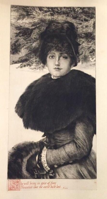 James Jacques-Joseph Tissot, 'Promenade dans la Neige ', 1880