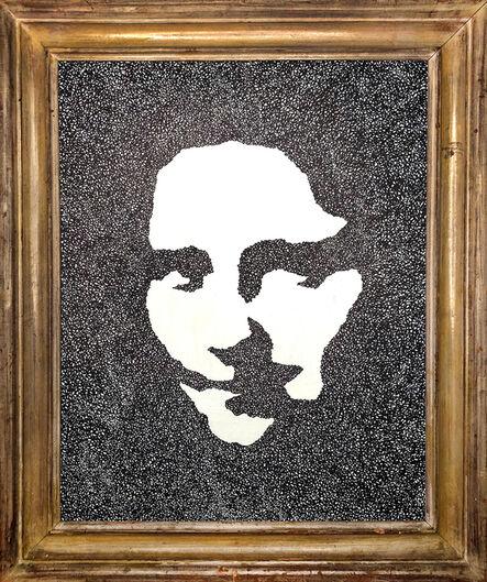 David Paul Kay, 'Geometric Abstraction, black and white portrait of Mona Lisa- 'Mona Lisa VII'', 2020