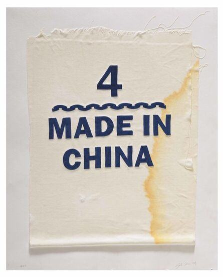 Analía Saban, 'Size 4, Made in China, Clothing Tag', 2019