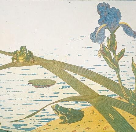 "Charles Houdard, '""Grenouilles et iris""', 1894"