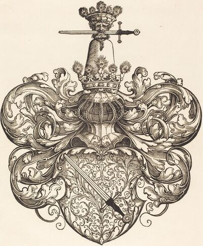 Sebald Beham, 'Coat of Arms of the Family Kress von Kressenstein'