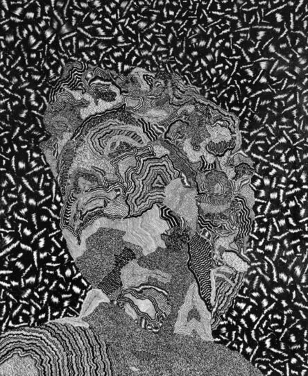 David Paul Kay, 'Geometric Abstract Black and White Painting: 'David'', 2020