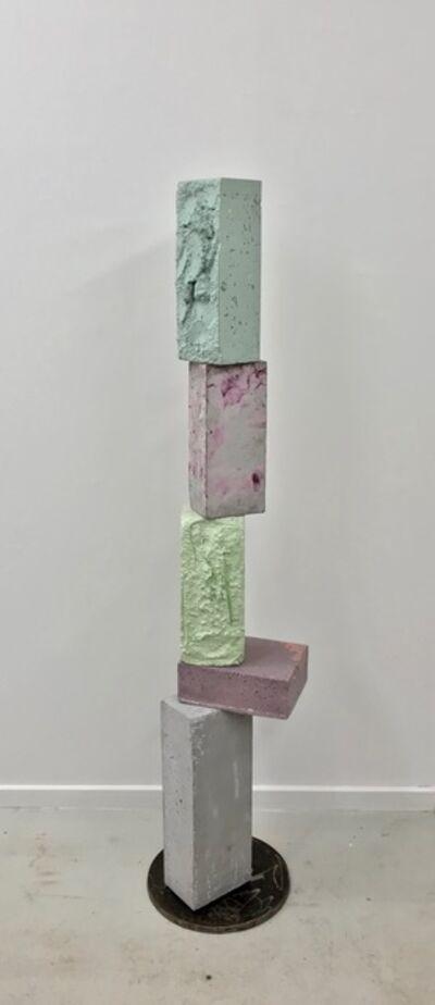 Magnus Pettersen, 'Untitled (turquoise, purple in grey, signal green purple light)', 2020
