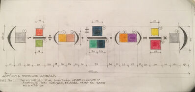Horacio Zabala, 'Draft for: Hypothesis for Thirteen Monochromes', 1943