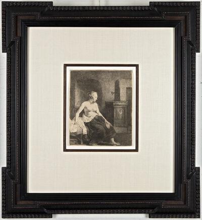 Rembrandt van Rijn, 'Woman Sitting Half Dressed Beside a Stove', 1658