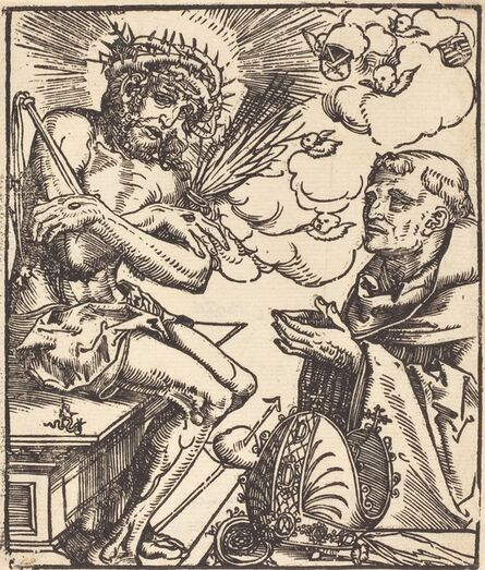 Lucas Cranach the Elder, 'Saint Bernard Adoring the Man of Sorrows'