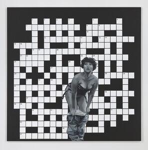 Paulina Olowska, 'Crossword Puzzle with a She--Surprised (Krzyzówka z Zaskoczona)', 2014