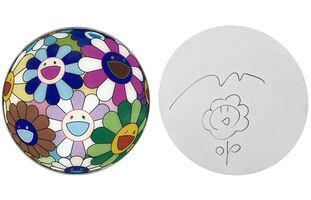 Takashi Murakami, 'FLOWERBALL DISC WITH ORIGINAL DRAWING', 2007